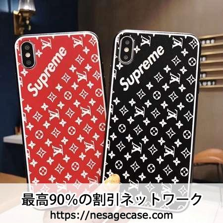 supreme&lv iphone xsケース オシャレ